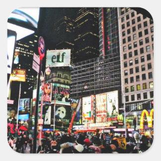 New York City tider kvadrerar klistermärken