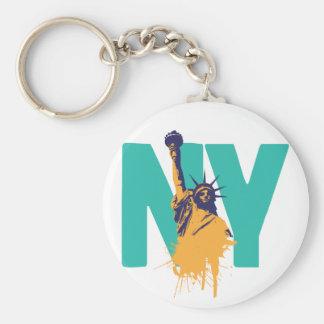 New York damfrihet Rund Nyckelring