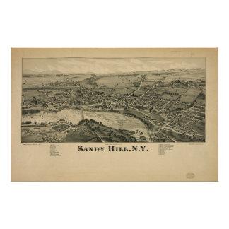 New York för backe för Hudson nedgångar sandig Brevpapper