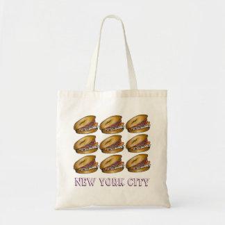 New York för kapris för gräddost för NYC-bagelLox Tygkasse