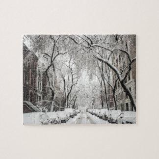 New York i vinter Pussel