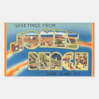 New York Jones strandklistermärke Rektangulärt Klistermärke
