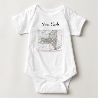 New York karta och statlig flagga Tröjor