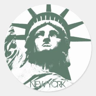 New York klistermärkear kyler New York Runt Klistermärke