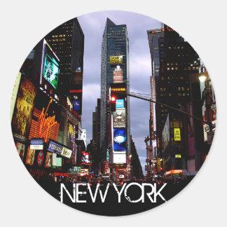 New York klistermärkear New York Times kvadrerar Runt Klistermärke