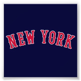New York kontra Boston rivaler Fototryck