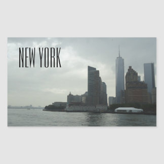 New York Manhattan Hudson River gåva Rektangulärt Klistermärke