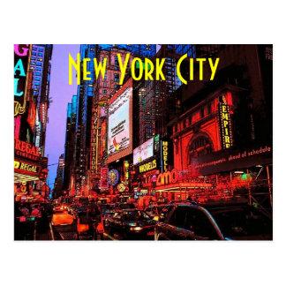 New York neonvykort Vykort