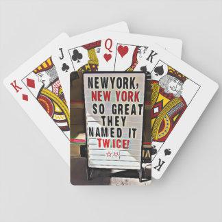 New York NY New York City undertecknar att leka Spel Kort