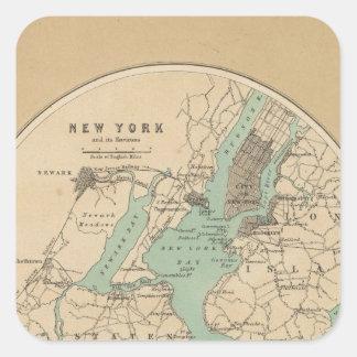 New York och dess miljöer Fyrkantigt Klistermärke