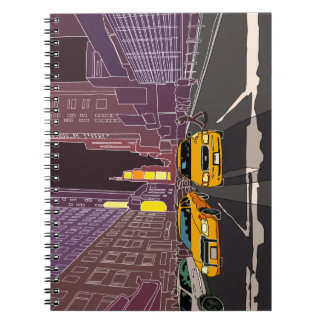New York på nigh fotoanteckningsboken (80 sidor Anteckningsbok
