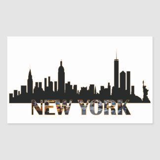 New York Rektangulärt Klistermärke
