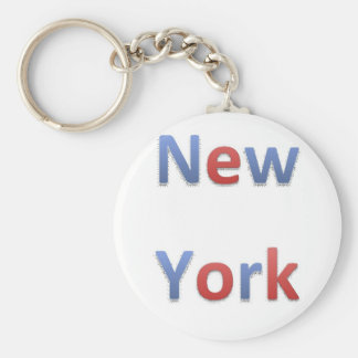 New York Retro stil 1 Rund Nyckelring
