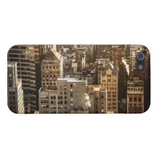 New York Rooftops - skyscraper i solljus iPhone 5 Hud