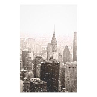 New York snö Brevpapper