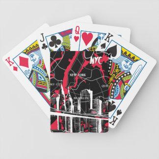 New York som är modernt, karta Spelkort