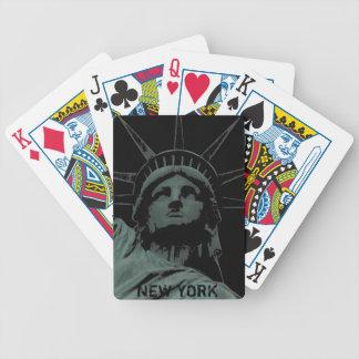New York som leker kortfrihetsgudinnansouvenir Spelkort