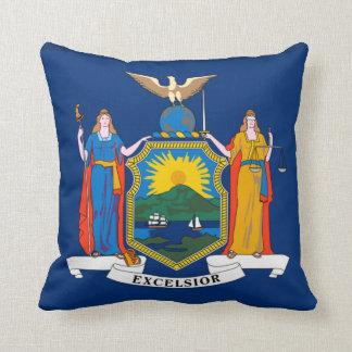 New York statlig flagga Kudde