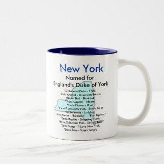 New York symboler & karta Två-Tonad Mugg