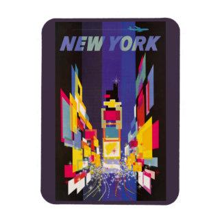 New York Times kvadrerar vid nattabstrakt Magneter