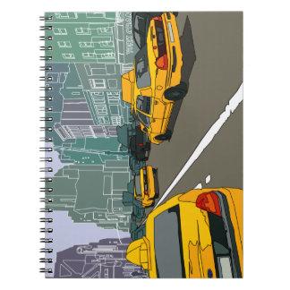 New York trafikerar fotoanteckningsboken (80 sidor Anteckningsbok Med Spiral