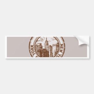 New York USA reser frimärket Bildekal