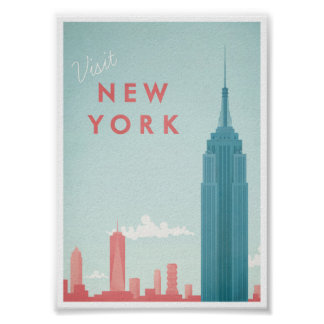 New York vintage resoraffisch Poster