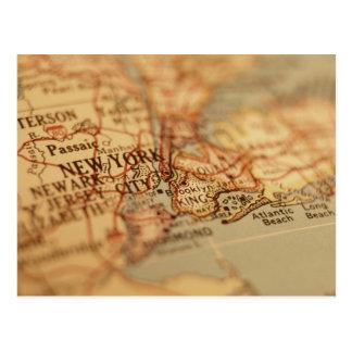 NEW YORK vintagekarta Vykort