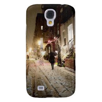 New York vinter - snö på den lägre östliga sidan Galaxy S4 Fodral