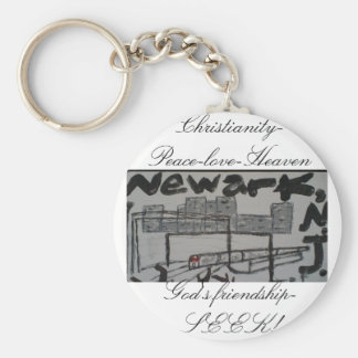 Newark N.J-keychain/kristen som bevittnar keychain Rund Nyckelring