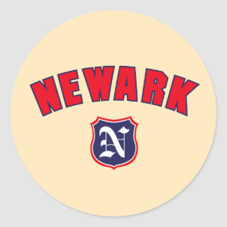 Newark Throwback Runt Klistermärke