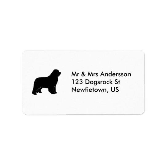 Newfoundland hund adressetikett