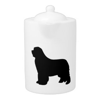 Newfoundland hundtekanna, svart silhouette, gåva