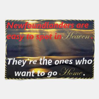 Newfoundlanders är lätt att spot i Heaven. Kökshandduk