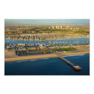 Newport strand Kalifornien Fotografiska Tryck
