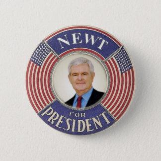 Newt Gingrich 2012 knäppas Standard Knapp Rund 5.7 Cm