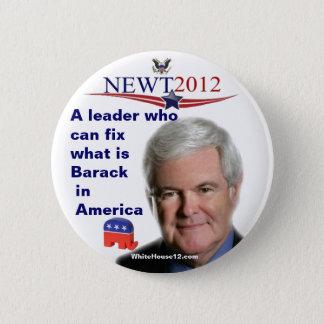 Newt Gingrich ..... fixande vad är Barack Standard Knapp Rund 5.7 Cm