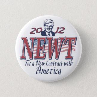 Newt Gingrich för president 2012 utrustar Standard Knapp Rund 5.7 Cm