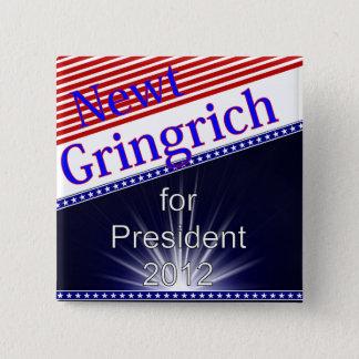 Newt Gingrich för presidentexplosion Standard Kanpp Fyrkantig 5.1 Cm
