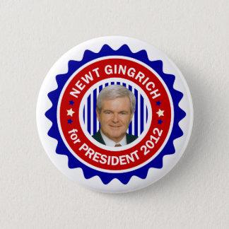 Newt Gingrich för US-presidenten 2012 Standard Knapp Rund 5.7 Cm