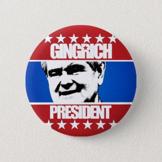 Newt Gingrich - president Standard Knapp Rund 5.7 Cm
