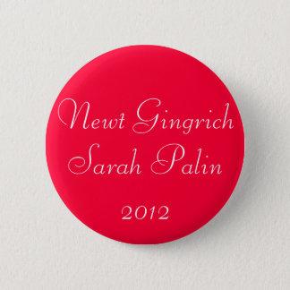 Newt Gingrich Sarah Palin 2012 Standard Knapp Rund 5.7 Cm