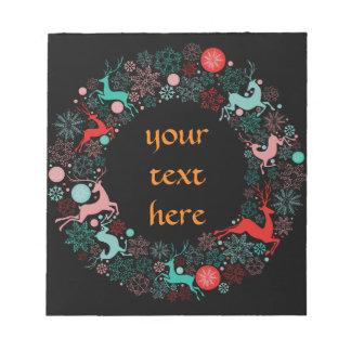 newyear god jul och lycklig anteckningsblock