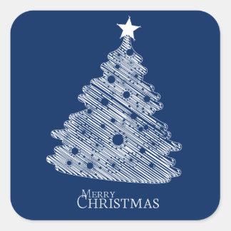 newyear god jul och lycklig fyrkantigt klistermärke