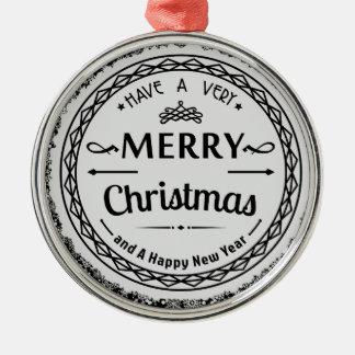newyear god jul och lycklig julgransprydnad metall