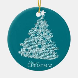 newyear god jul och lycklig rund julgransprydnad i keramik