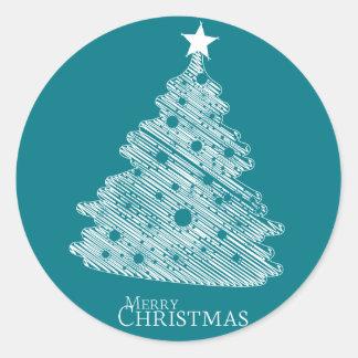 newyear god jul och lycklig runt klistermärke