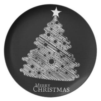 newyear god jul och lycklig tallrik