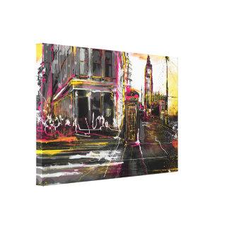 Newyork & London Canvastryck