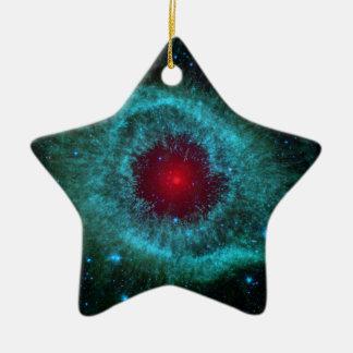 NGC 7293 spiralNebulaNASAEN Stjärnformad Julgransprydnad I Keramik